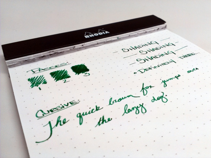 Pelikan Edelstein Aventurine – Handwritten Ink Review