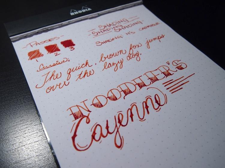 Noodler's Cayenne - Page 2 - Angle