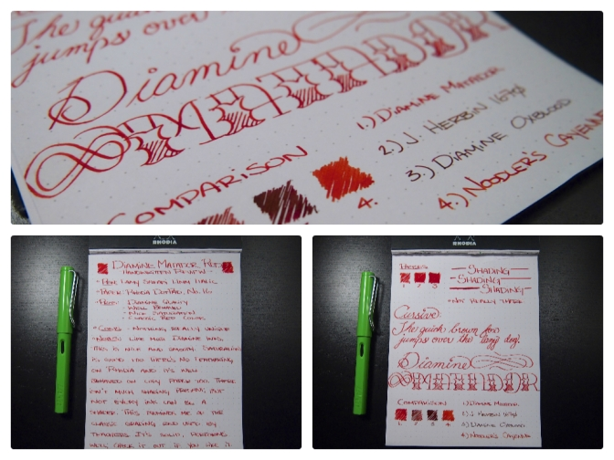 Diamine Matador – Handwritten Ink Review