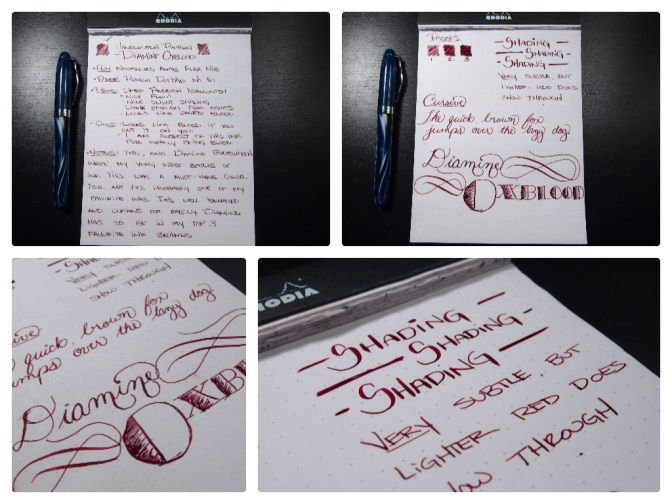Diamine Oxblood – Handwritten Ink Review
