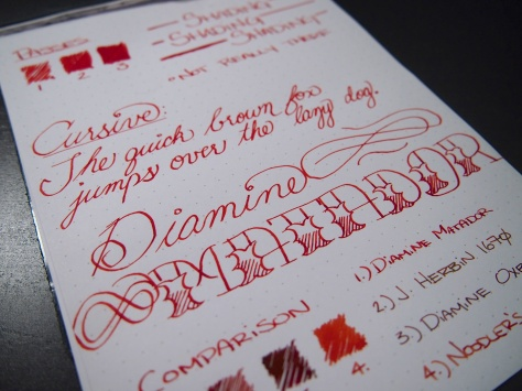 Close up on the fancy writing. Pretty happy with this one. The design overall reminds me of a Matador, sans bull-related violence.