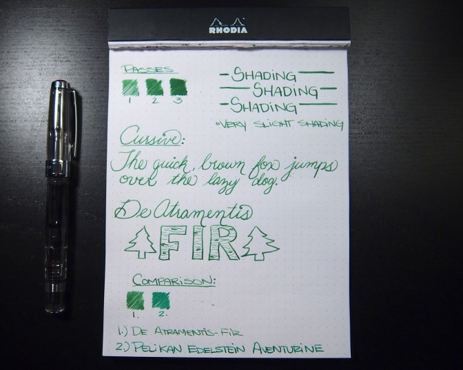 De Atramentis: Fir Scented Ink – Handwritten Review