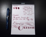 Diamine Oxblood Handwritten Review - Page 1
