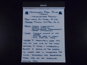 Noodler's Bad Blue Heron - Handwritten Review - Page 1