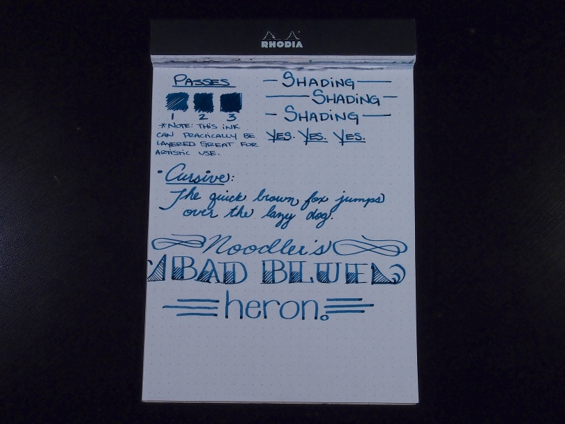 Noodler's Bad Blue Heron - Handwritten Review - Page 2