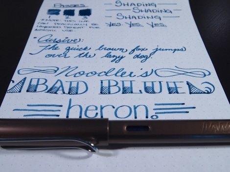 Noodler's Ink Bad Blue Heron Review Handwritten 4