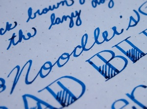 Noodler's Ink Bad Blue Heron Review Handwritten 2
