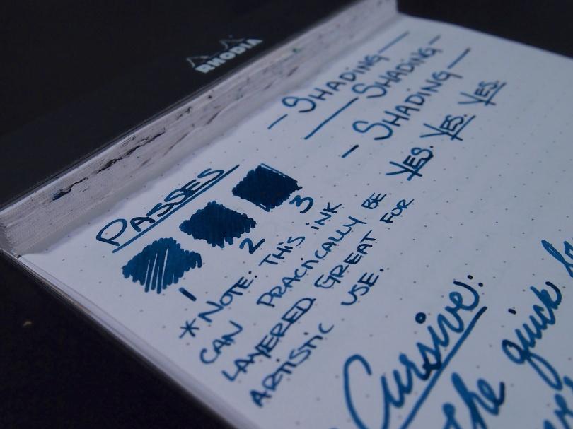 Noodler's Bad Blue Heron - Handwritten Review - Passes
