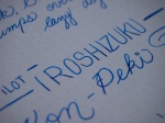 Pilot Iroshizuku Kon Peki Review Handwritten - 1