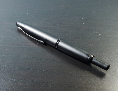 Pilot Vanishing Point - angle no book