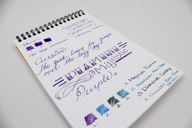 Diamine Majestic Purple – Handwritten Ink Review
