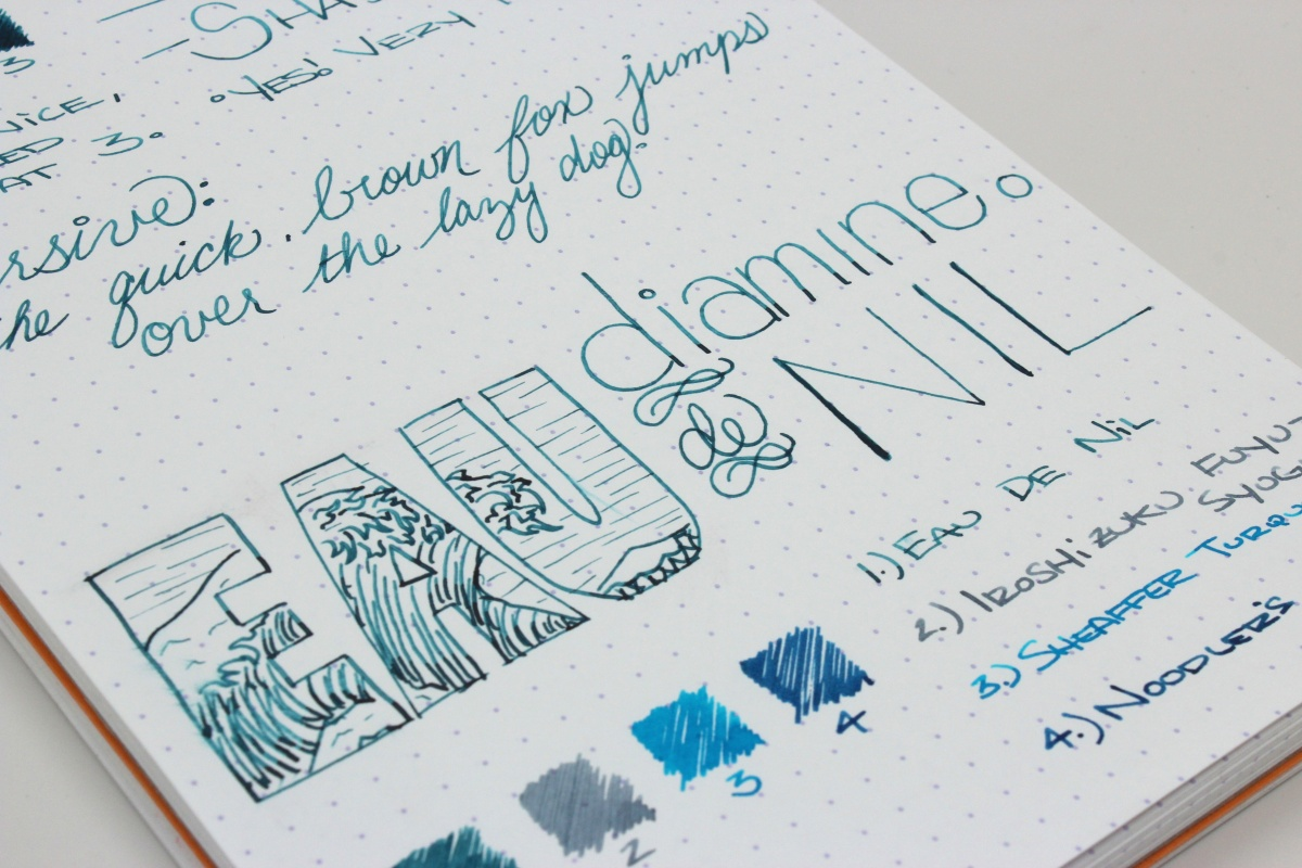 Diamine Eau De Nil - Handwritten Ink Review