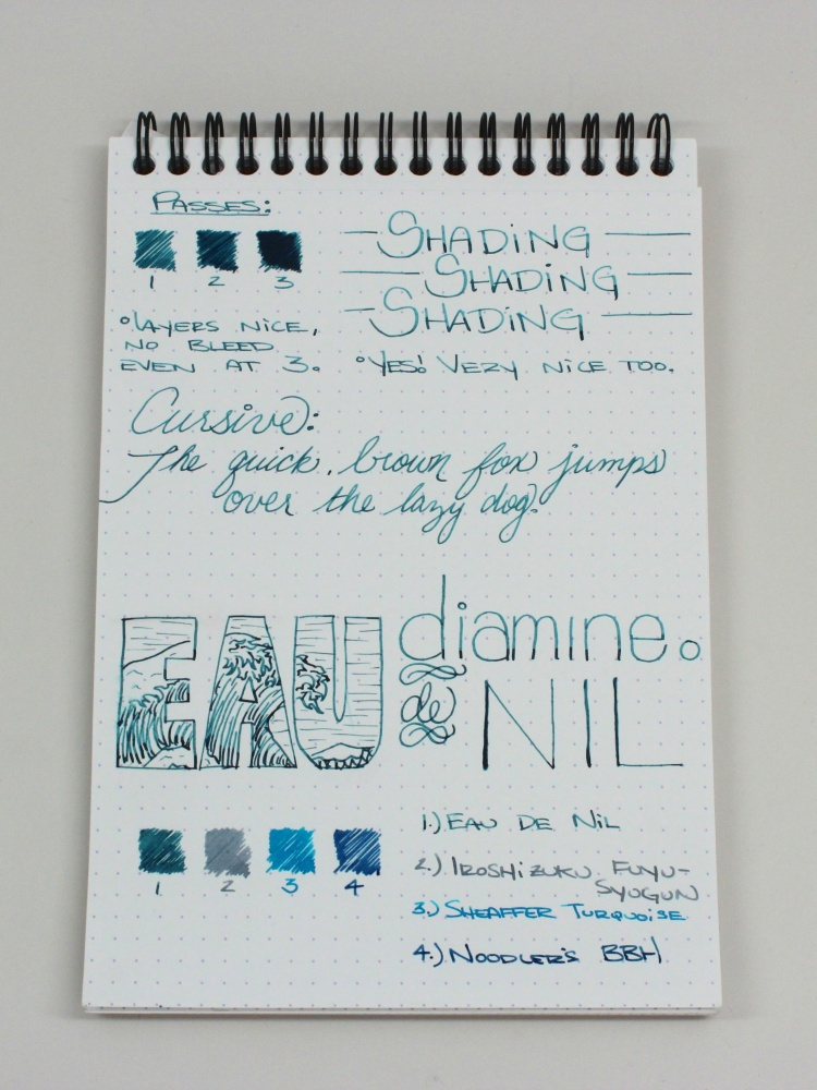 Diamine Eau de Nil Handwritten Review 8