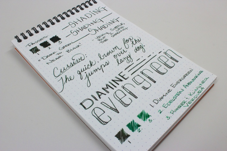 Diamine Evergreen Handwritten Review 5