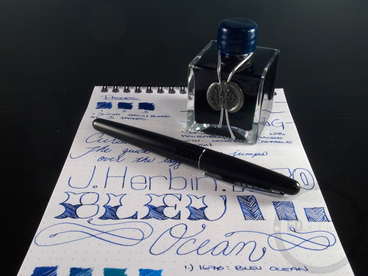j  herbin  u2013 1670  bleu ocean  u2013 handwritten ink review