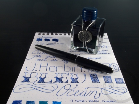 J. Herbin 1670 Bleu Ocean Ink Handwritten Review 10