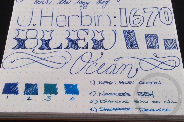 J. Herbin 1670 Bleu Ocean Ink Handwritten Review 1