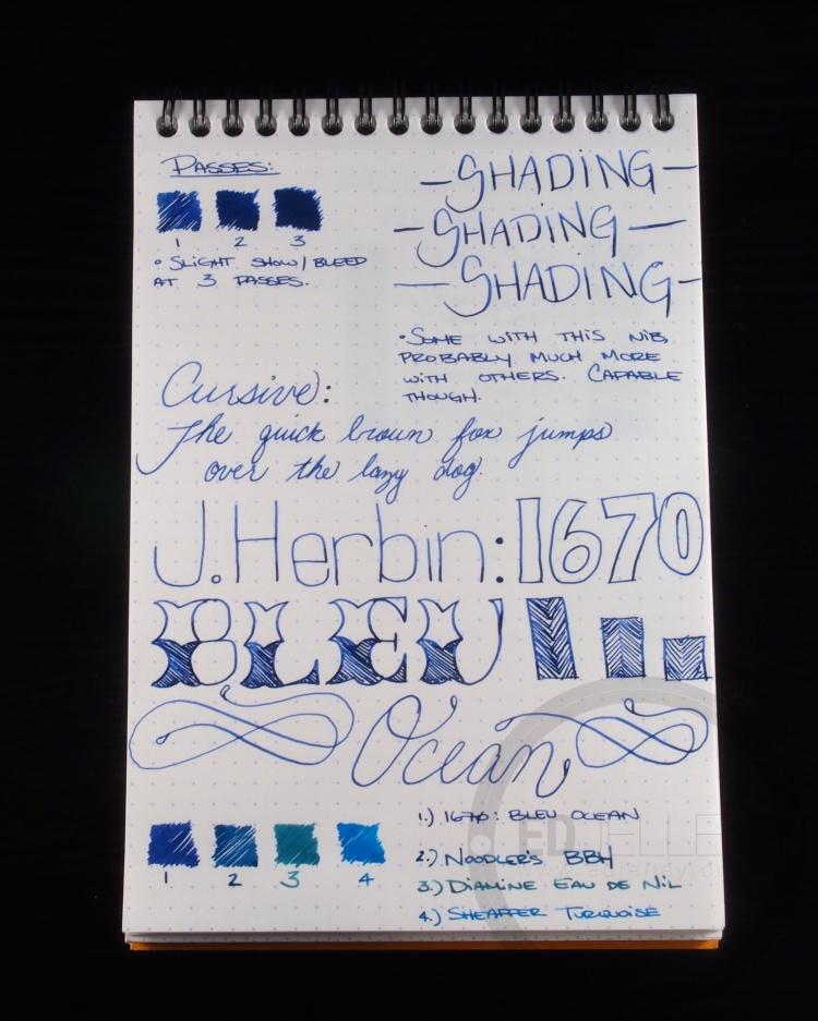 J. Herbin 1670 Bleu Ocean Ink Handwritten Review 2
