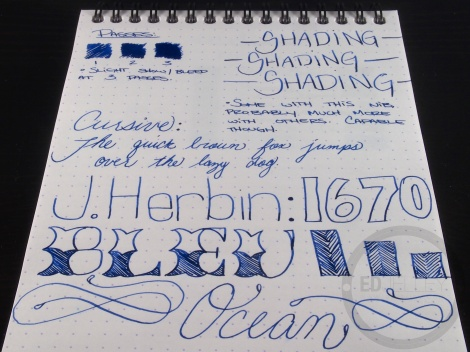 J. Herbin 1670 Bleu Ocean Ink Handwritten Review 4