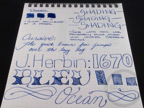 J. Herbin 1670 Bleu Ocean Ink Handwritten Review 4