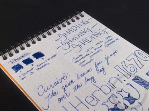 J. Herbin 1670 Bleu Ocean Ink Handwritten Review 5