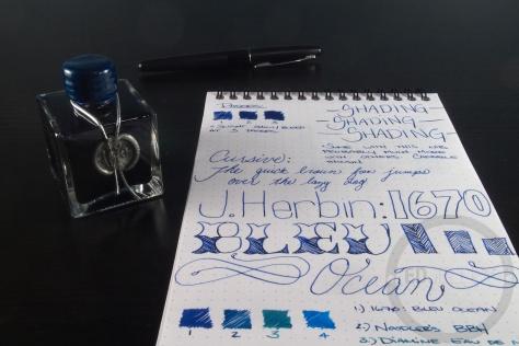 J. Herbin 1670 Bleu Ocean Ink Handwritten Review 8
