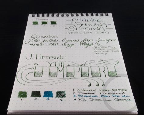 J. Herbin Vert Empire Fountain Pen Ink Handwritten Review 1