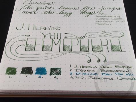 J. Herbin Vert Empire Fountain Pen Ink Handwritten Review 2