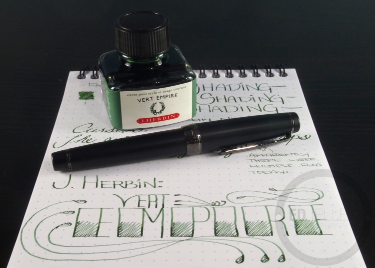 J. Herbin Vert Empire Fountain Pen Ink Handwritten Review 4