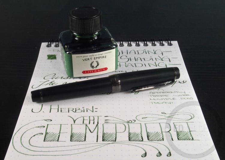 J. Herbin Vert Empire Fountain Pen Ink Handwritten Review 4