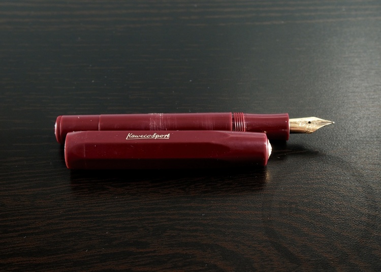 Kaweco Sport Burgundy Fountain Pen Handwritten Review 9