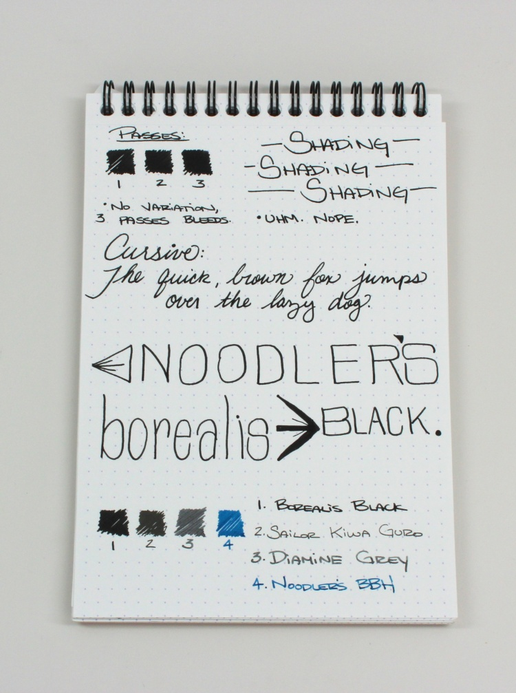 Noodler's Borealis Black Handwritten Review 2