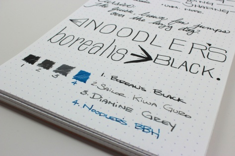 Noodler's Borealis Black Handwritten Review 6