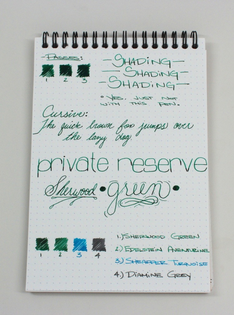 Private Reserve Handwritten Review 3