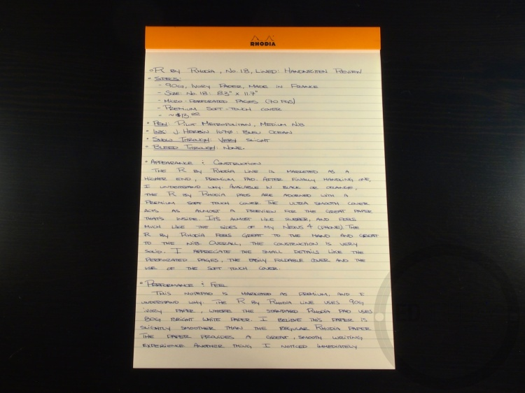 R by Rhodia No 18 Stationery Review 5