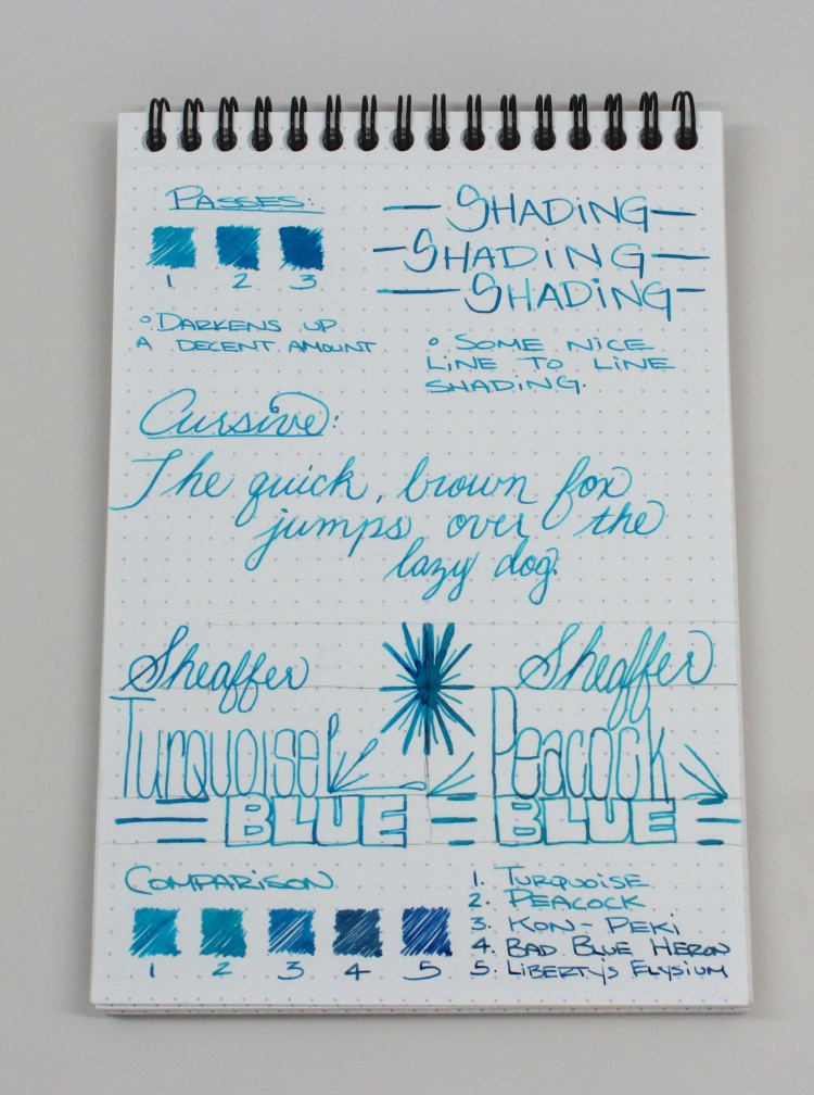 Sheaffer Turquoise Handwritten Review 2