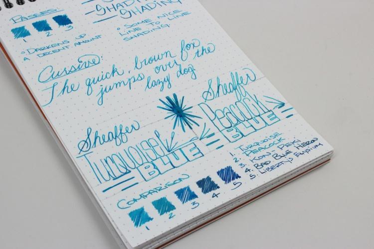 Sheaffer Turquoise Handwritten Review 4