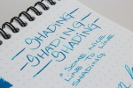 Sheaffer Turquoise Handwritten Review 5