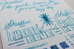 Sheaffer Turquoise Handwritten Review 6