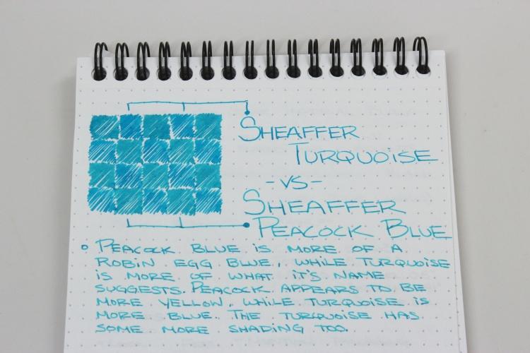 Sheaffer Turquoise Handwritten Review 7