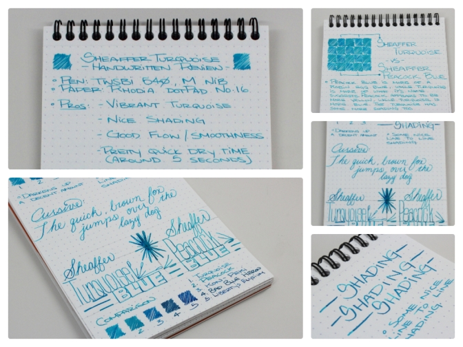 Sheaffer Turquoise – Handwritten Ink Review