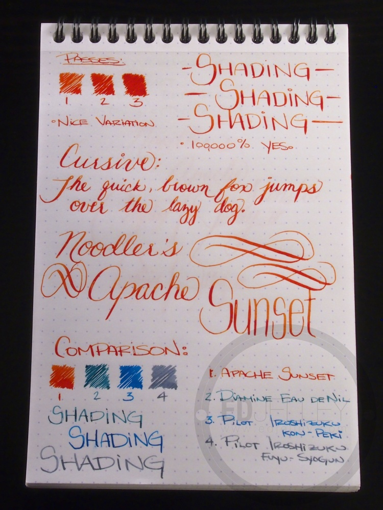 Apache Sunset Handwritten Ink Review 035 2
