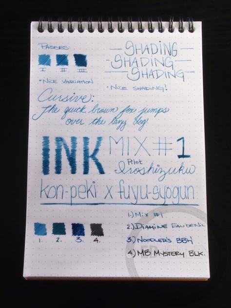 Iroshizuku Ink Mix Handwritten Review 056 2