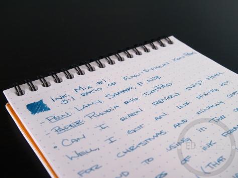 Iroshizuku Ink Mix Handwritten Review 057 3