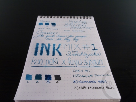 Iroshizuku Ink Mix Handwritten Review 060 6