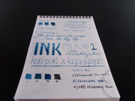 Iroshizuku Ink Mix Handwritten Review 060 6