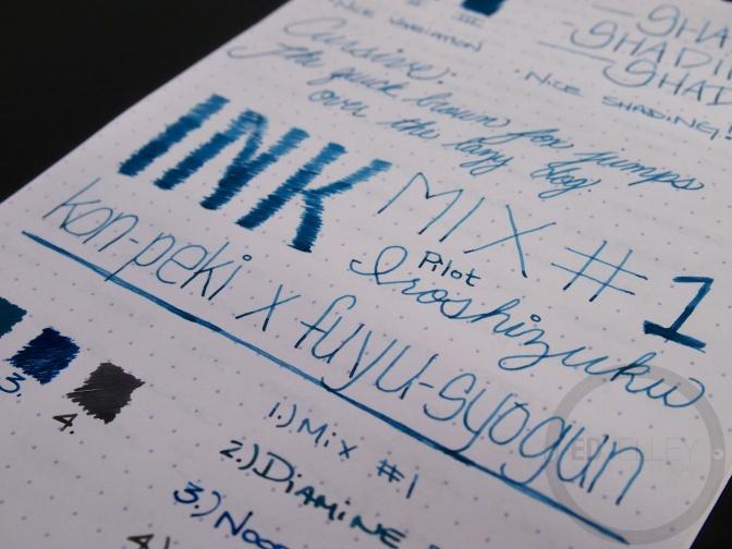 Iroshizuku Ink Mix Handwritten Review 061 7