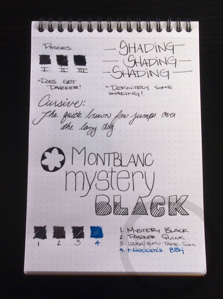 Montblanc Mystery Black Ink Handwritten Review 065 2
