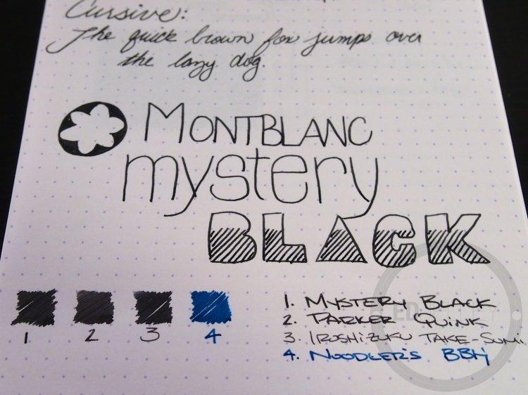 Montblanc Mystery Black Ink Handwritten Review 070 7