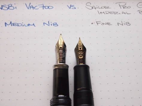 TWSBI VAC 700 VERSUS SAILOR PROFESSIONAL GEAR